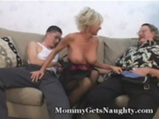 mature mom seduces juvenile lad with hubby