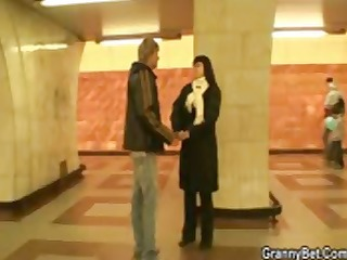 fat brunette hair receives picked up and taken