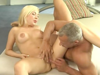 blond secretary seduces old boss
