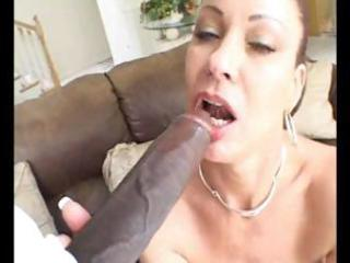 concupiscent mature dark brown eats his dark meat