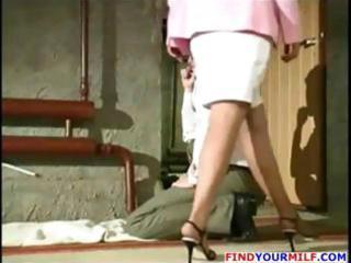 mature russian golden-haired anna eats wang and