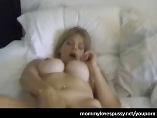 blonde cougar shows her juvenile blond ally the
