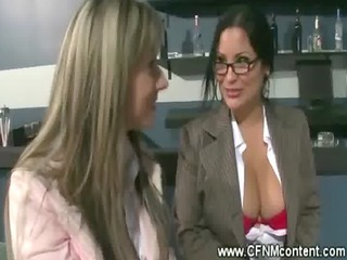business ladies engulf throughout a gloryhole
