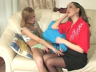 stepdaughter seduces stepmom
