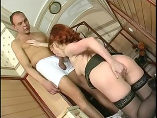 hawt redhaired older banging in nylons and heels