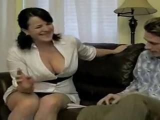 sexy breasty smokin mom bangs soninlaw