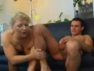 older blonde russian mature eats his pounder and