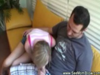 mother i shows daughter how to engulf a schlong