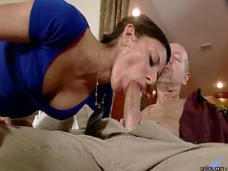 skinny wife comes home and blows husband